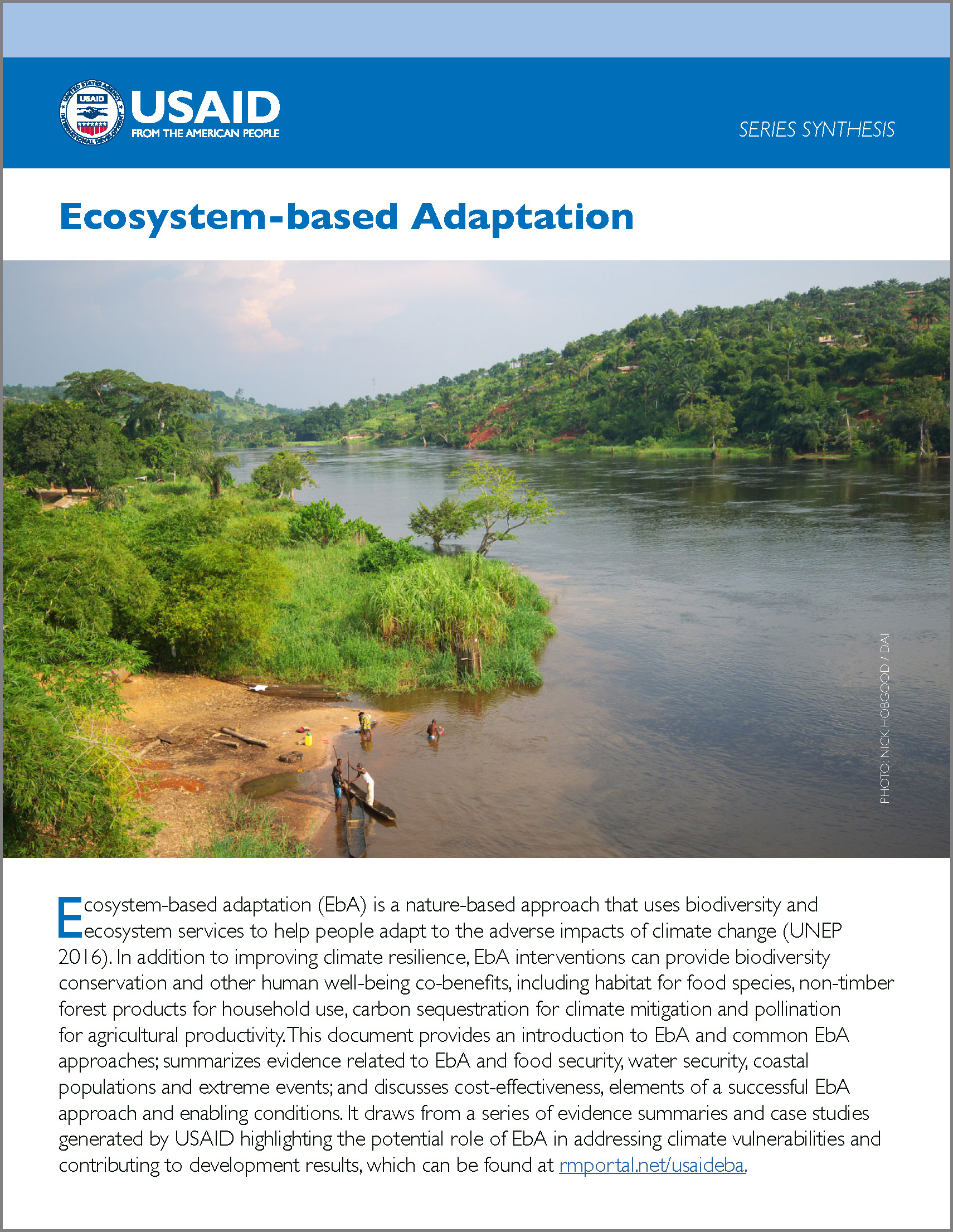 USAID Ecosystem-based Adaptation series synthesis cover