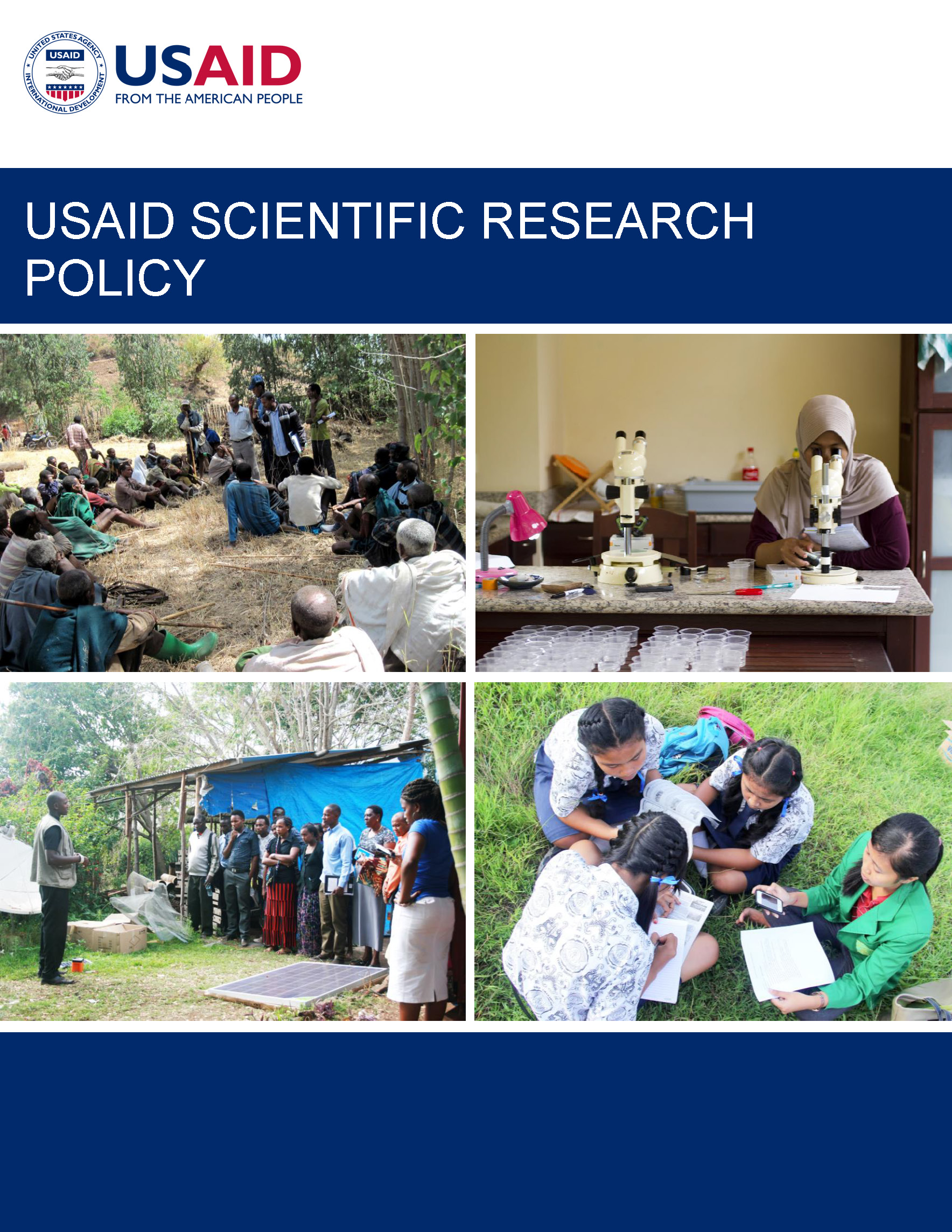 USAID Scientific Research Policy cover image